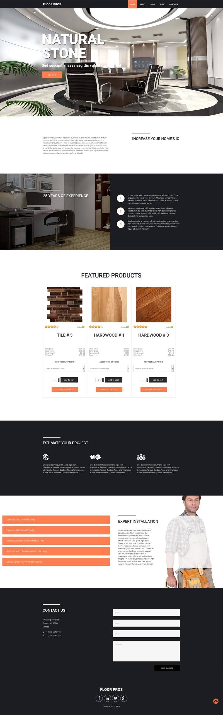 Flooring eCommerce Joomla! template