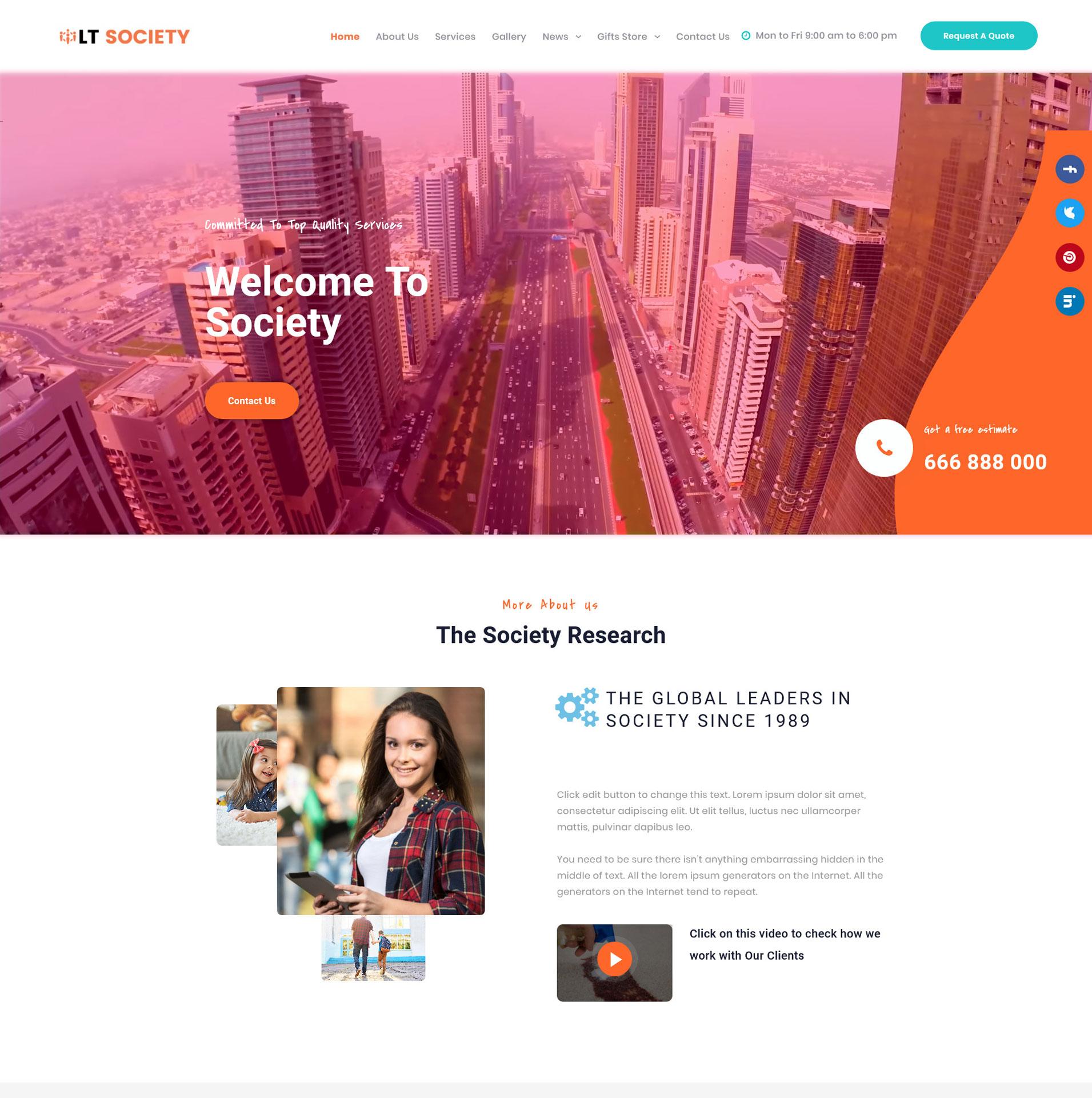 Social WordPress Theme