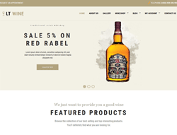 WordPress eCommerce Theme - LT Wine Shop