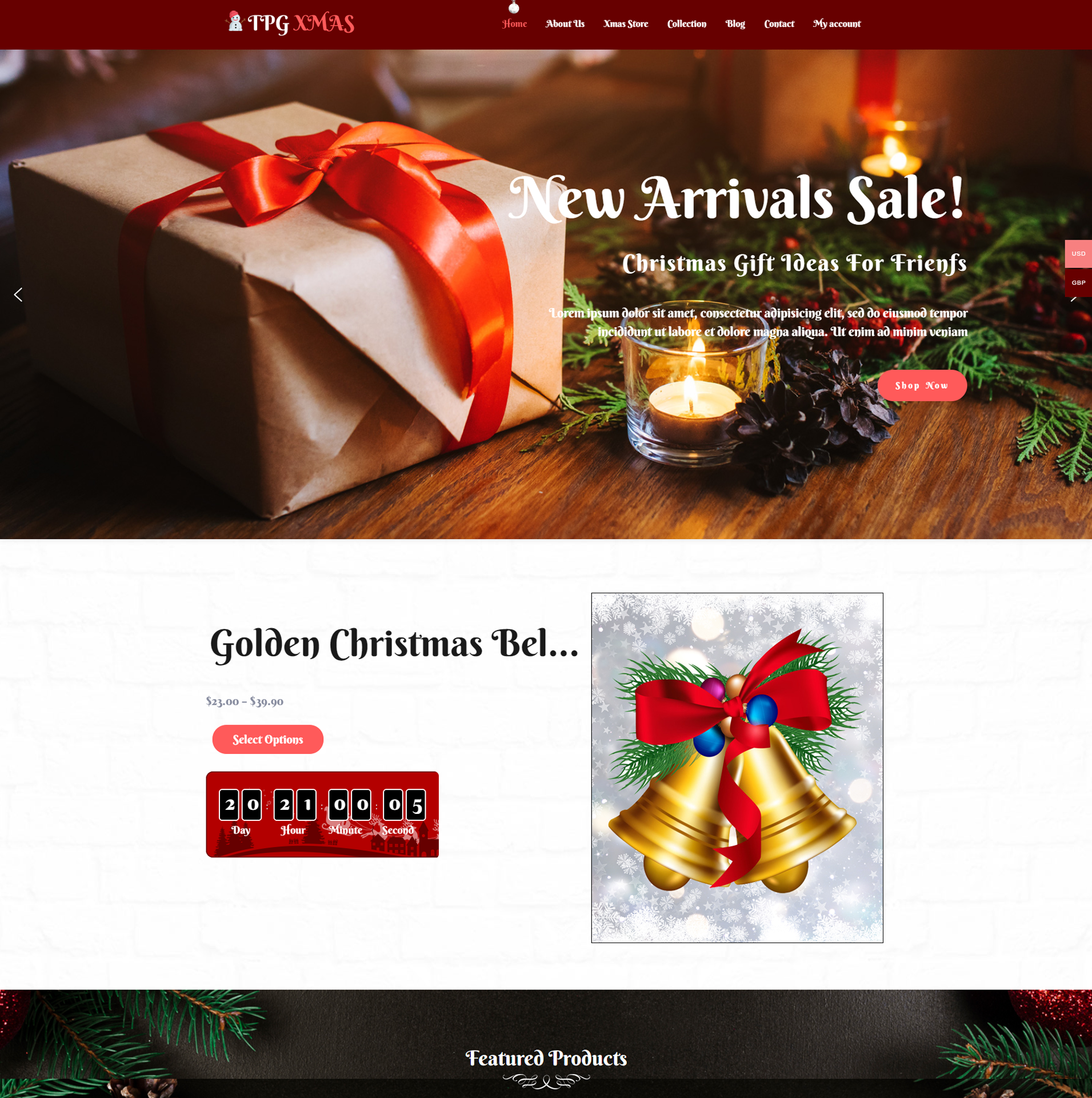 eCommerce xMas WordPress Theme