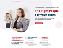 Responsive Portfolio WordPress Theme - LT Enterprise