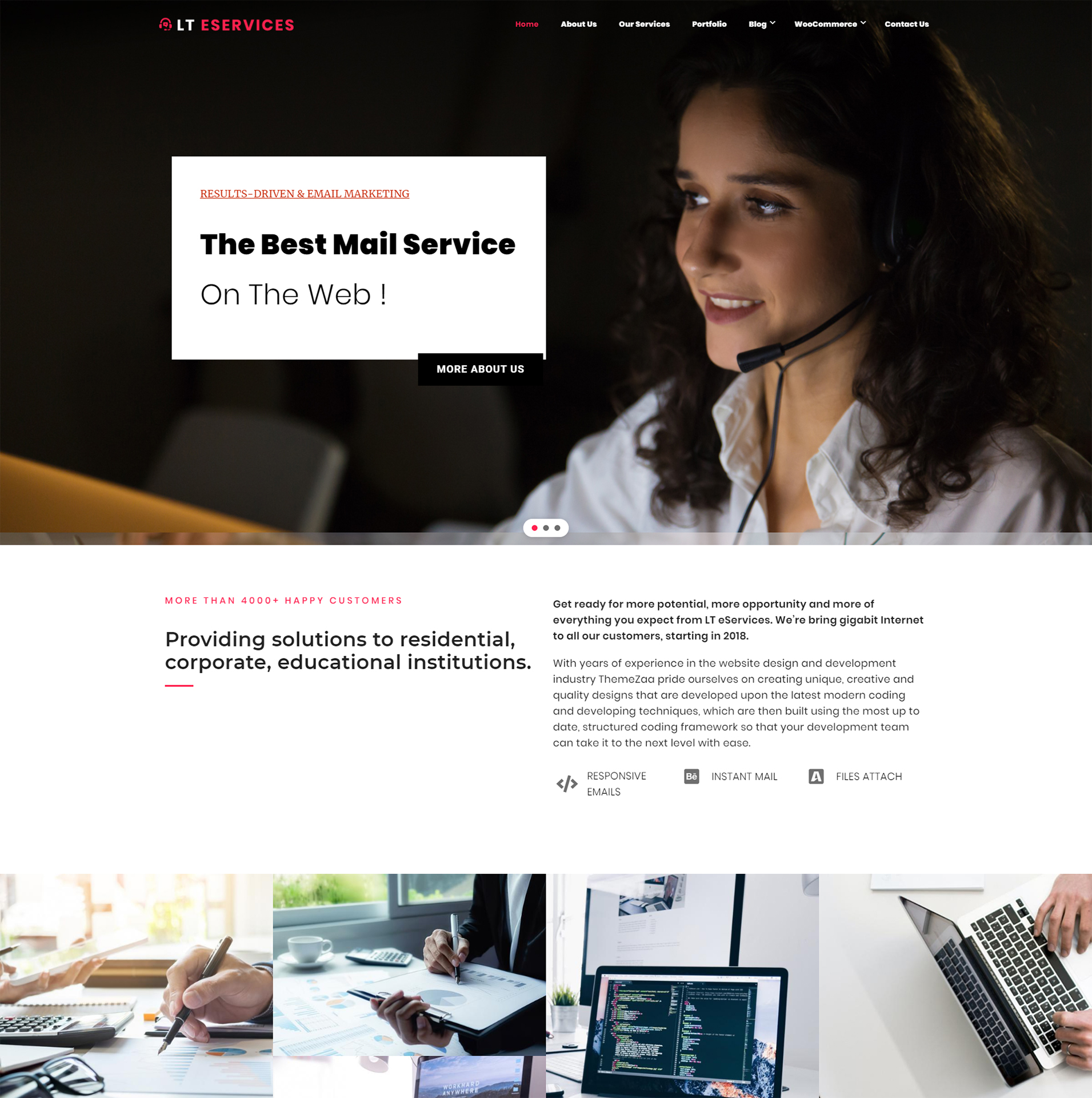 Services WordPress Theme