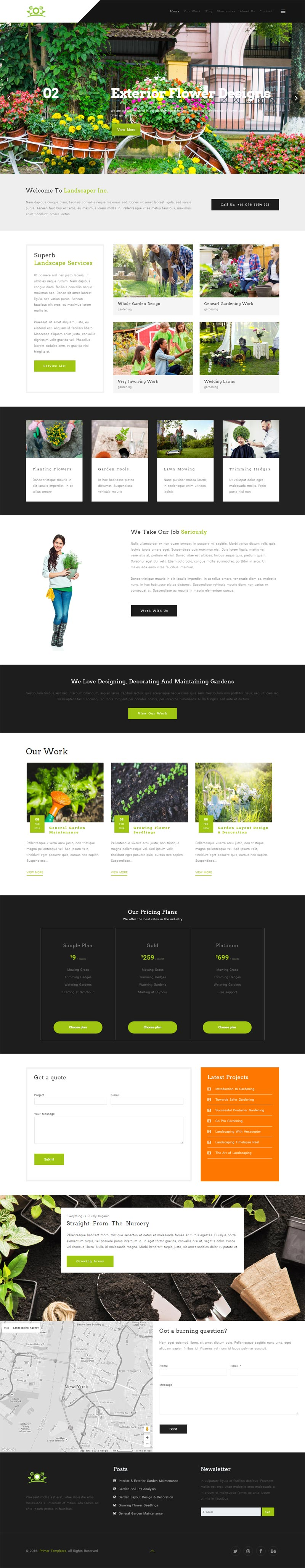 Main home page Joomla! template