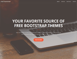 One Page Bootstrap theme - Creative