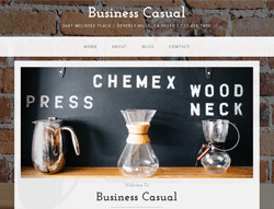 Website Template - Business Casual