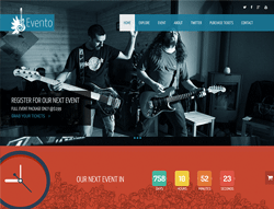 Onepage music event html template - Evento