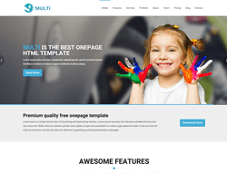 OnePage HTML Template - Multi