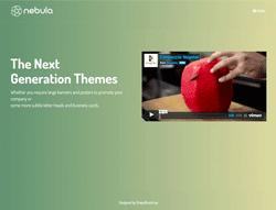 Creative HTML Horizontal Template - Nebula