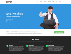Multipurpose Website Template - Nova