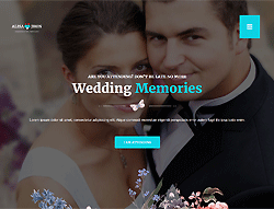 Bootstrapped HTML Theme - Wedding