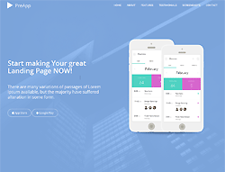 Application HTML Landing Page Template - PreApp