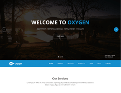 Bootstrap One Page Theme - Oxygen