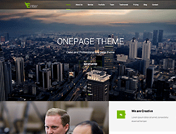 Onepage WordPress Theme - Enter
