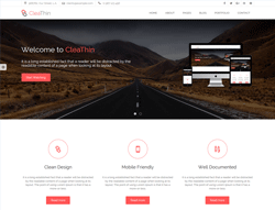 Business HTML Website Theme - CleaThin