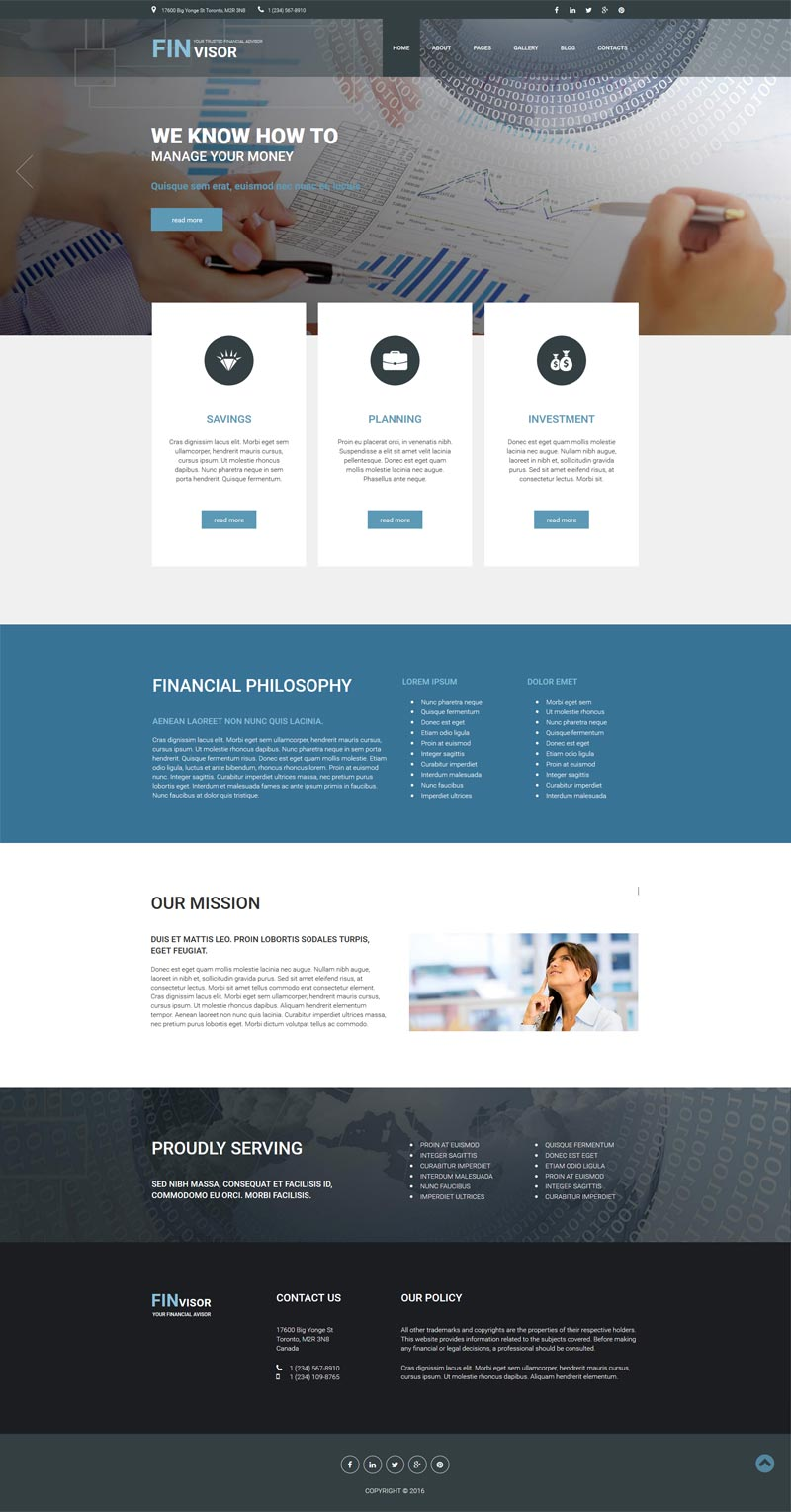 Financial services Joomla! template