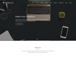 Creative HTML Website Template - Freedom 2