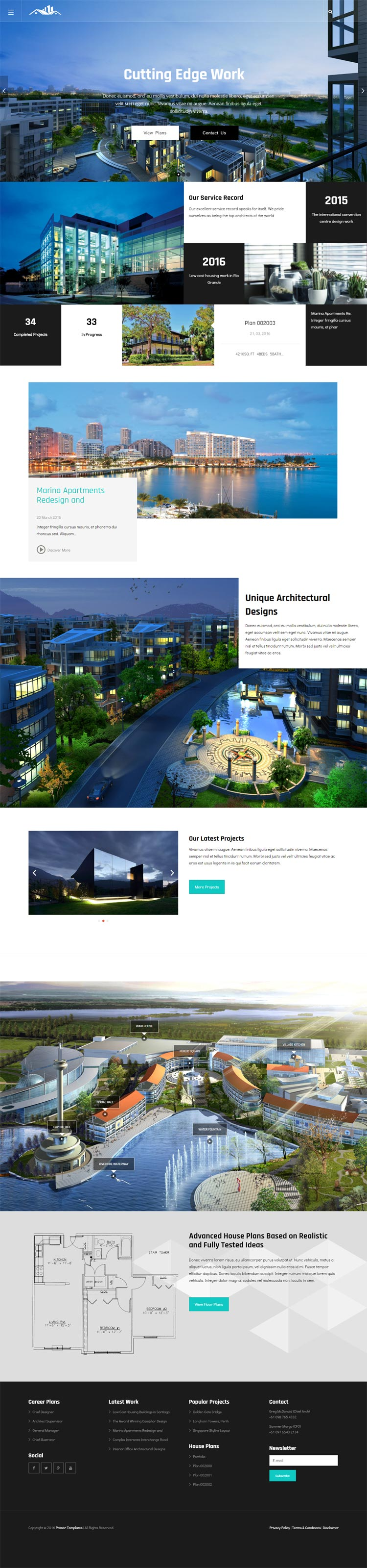 Architecture Joomla! template