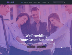Multipurpose HTML theme - ABCD