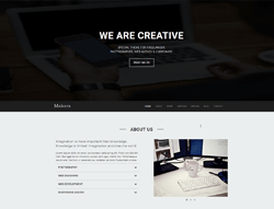 One Page Agency HTML Template - Makers