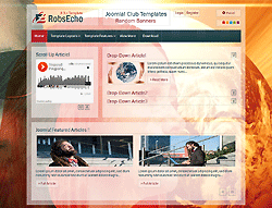 Music Joomla! Template - AT Robesco