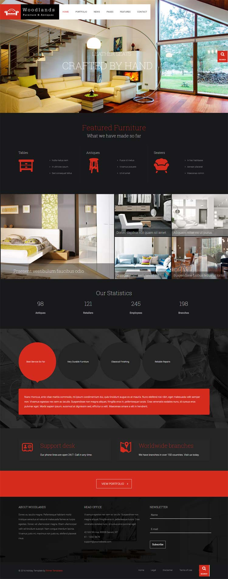 Wood Joomla! template