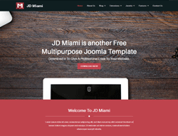 Joomla! Template - JD Miami