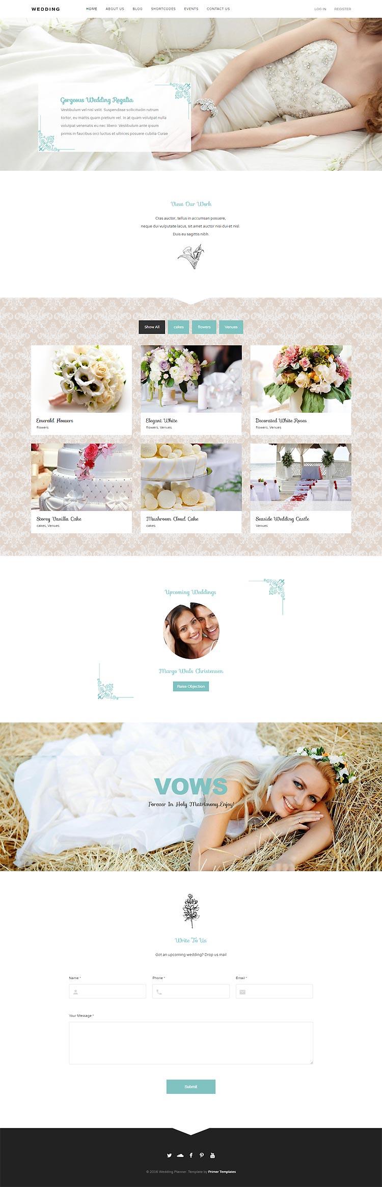 Wedding Joomla! template