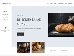 Bread Store Joomla Template - AT Bakery