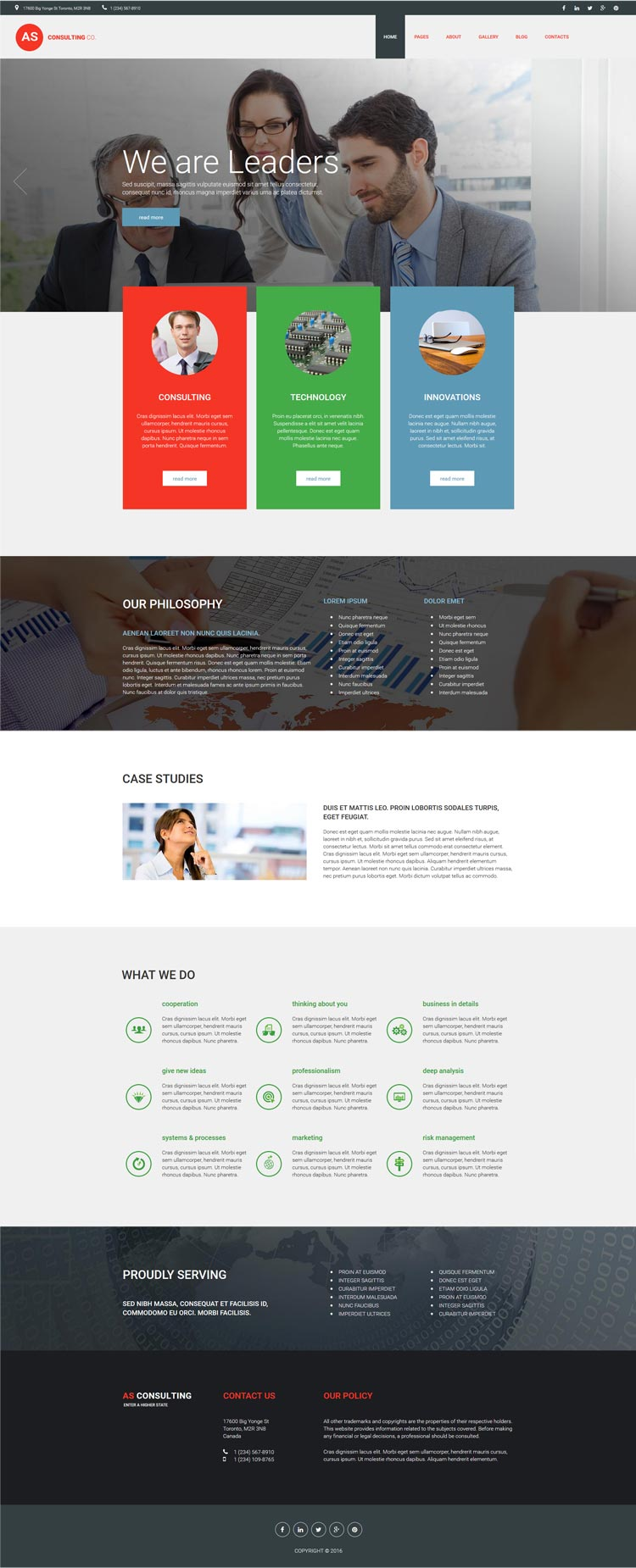 Consulting Joomla! template
