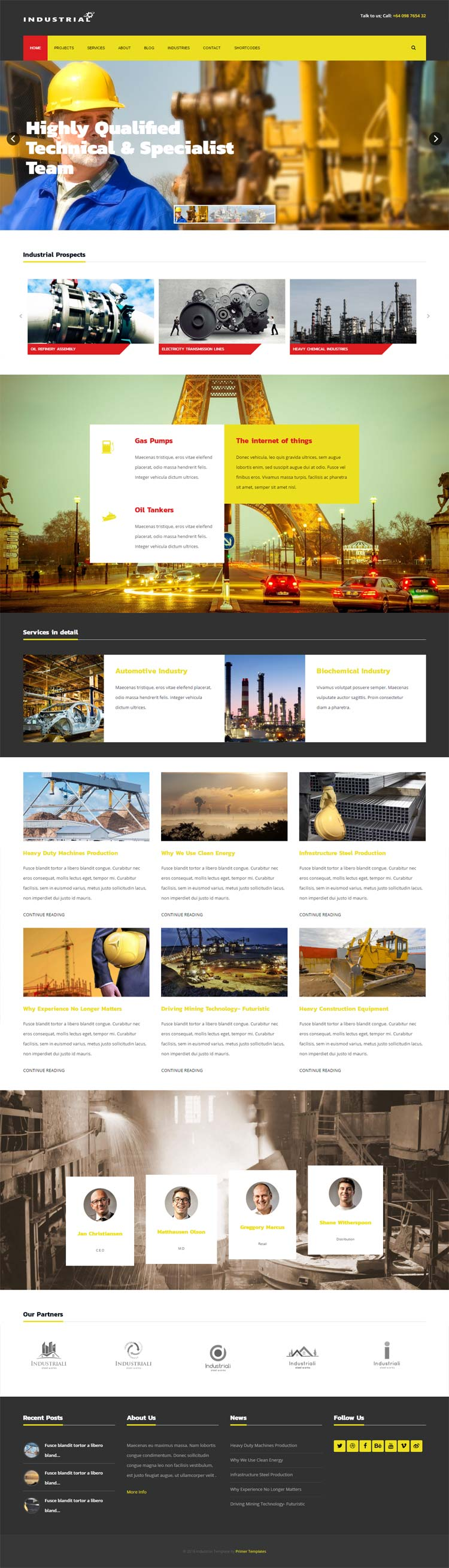Industrial Joomla! template