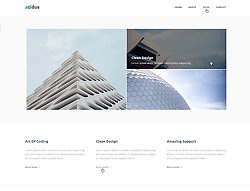Bootstrap theme - Acidus Corporate