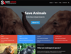 Joomla! Template - Save Animals