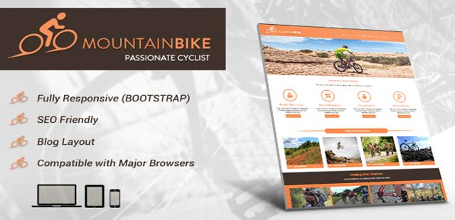 Mountain Bike HTML template