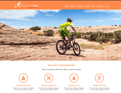 HTML Template - Mountain Bike
