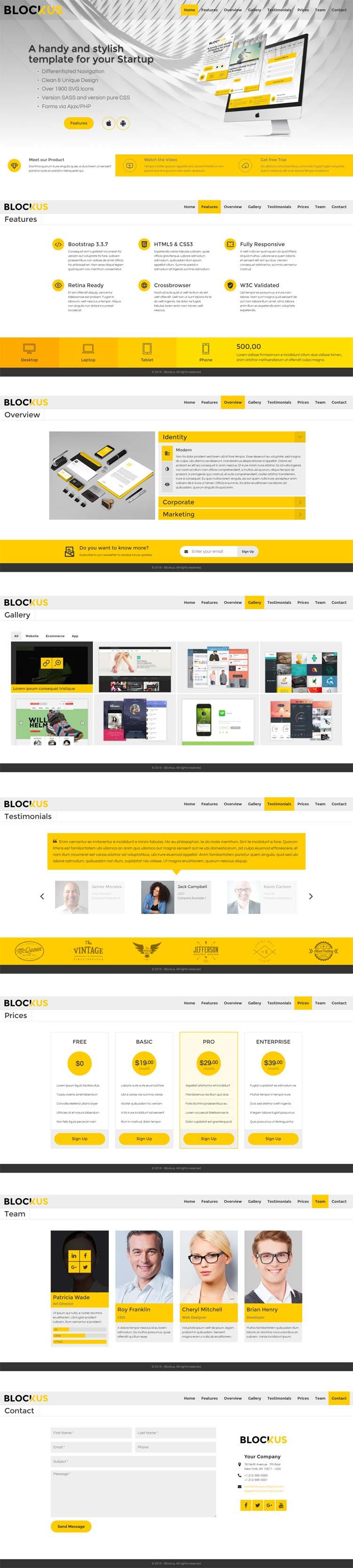 Blockus HTML template