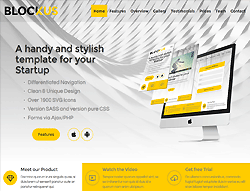 Stylish Business HTML Template - Blockus