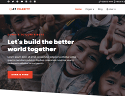 Nonprofit Joomla Template - AT Charity