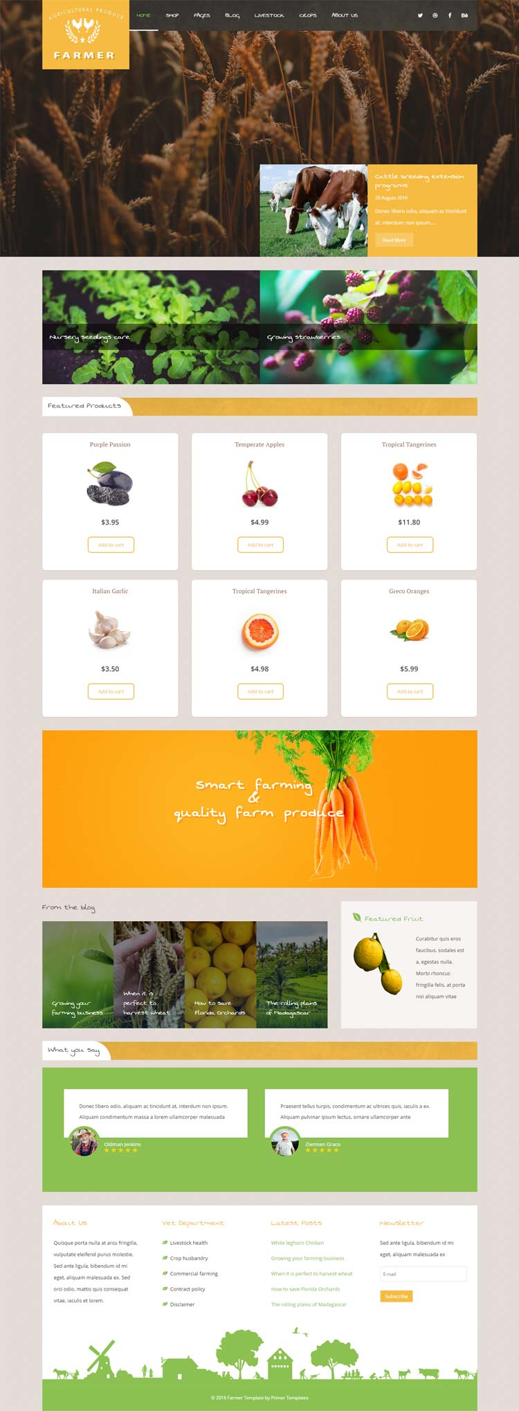 Farmer Agriculture Joomla! template