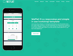 One Page HTML Template - WeFlat