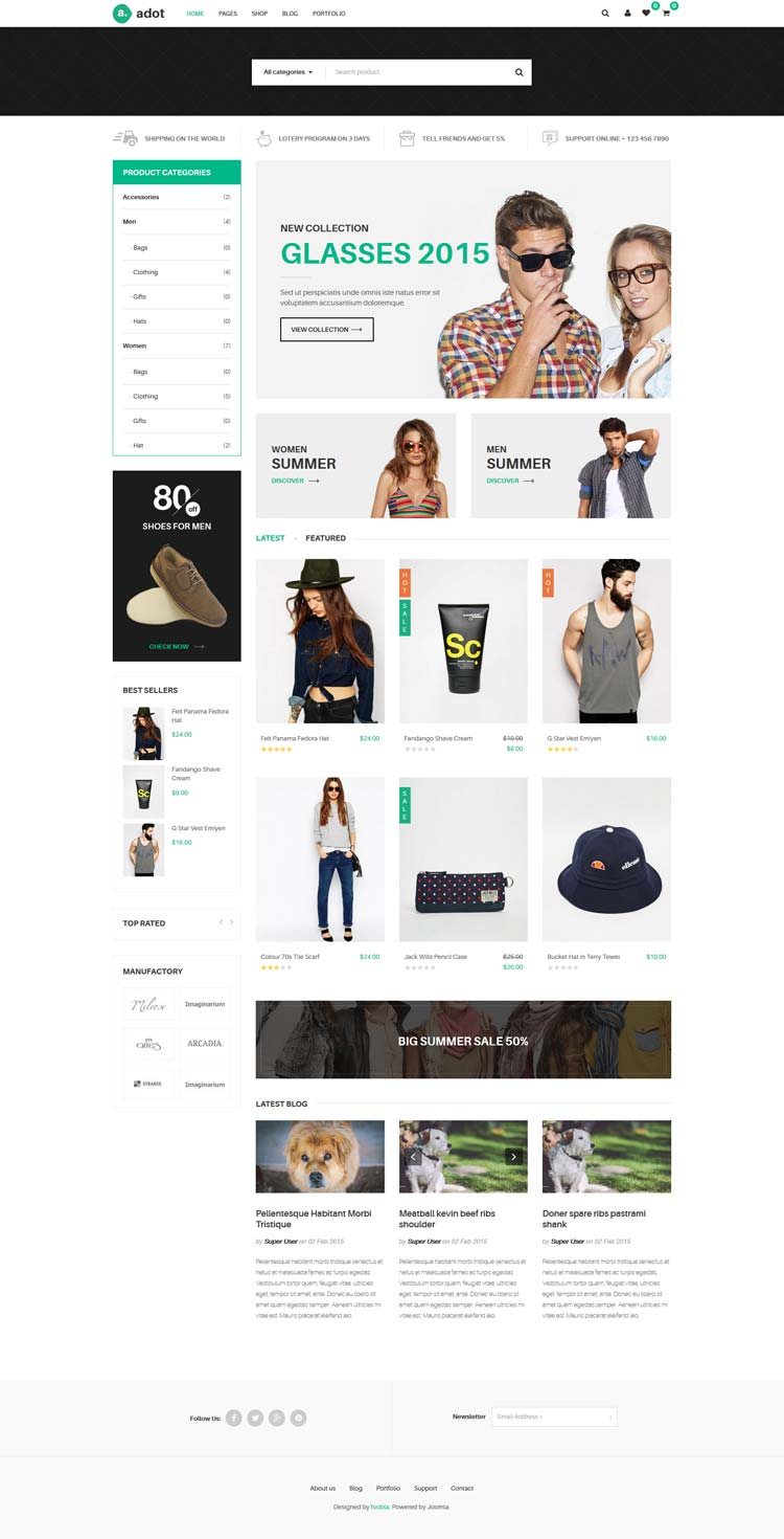 eCommerce Virtuemart Joomla! template
