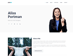 Bootstrap HTML Template - AceCV