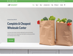 eCommerce Joomla Template - AT Vegeret