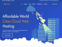 Hosting Joomla Template - AT Cloud