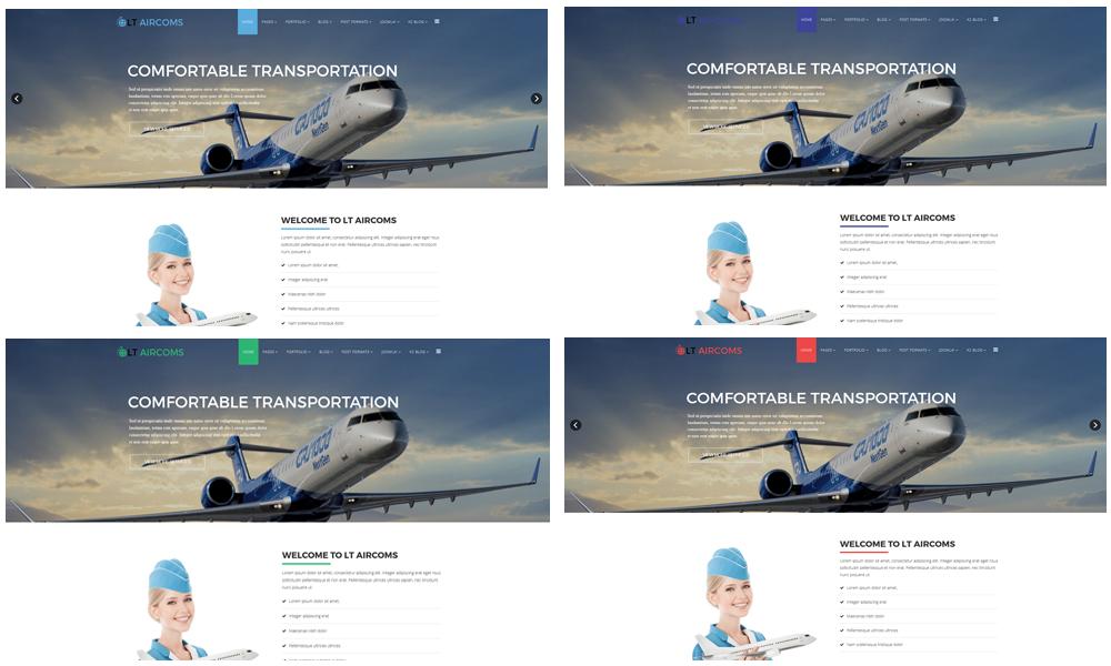 Aircom Joomla template Color Styles