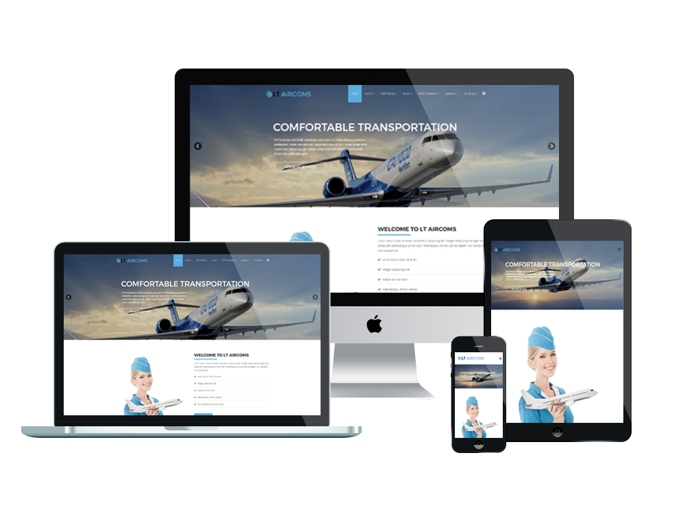 Aircom Joomla template Layout