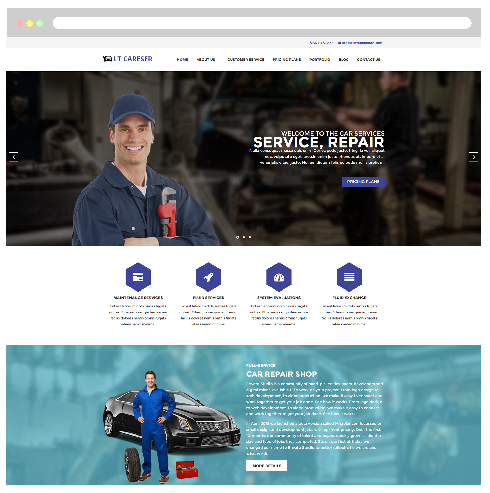Car Services WordPress Theme