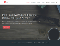 MultiPurpose Joomla Template - Moxi