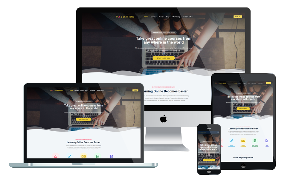 LT eLearning -  eLearning WordPress theme