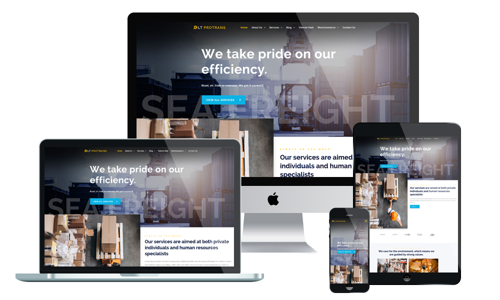 LT ProTrans - Transport WordPress theme