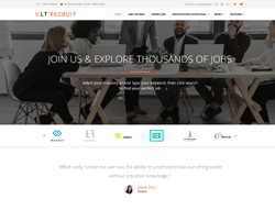 Human Resources WordPress theme - LT Recruit